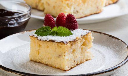 Gyümölcsös rizskoch torta