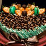 Túrós-mascarponés-epres torta